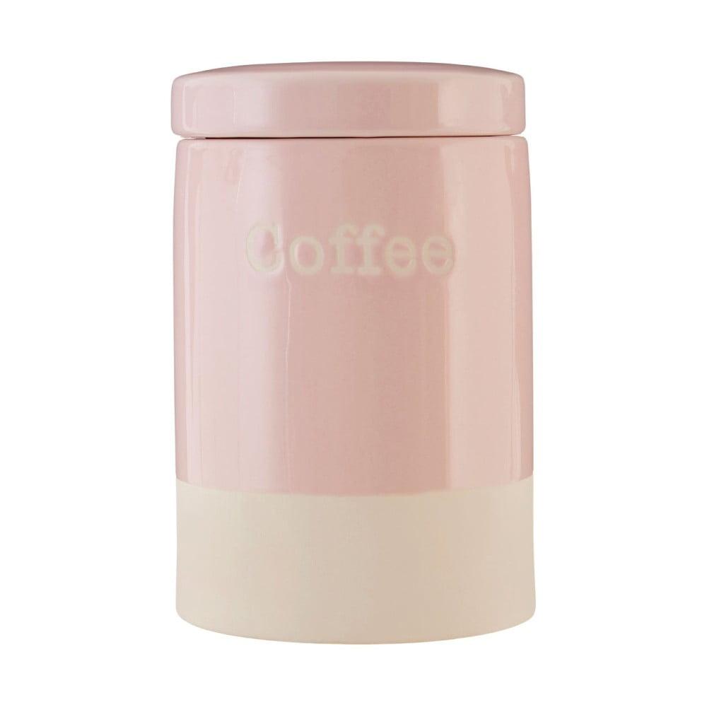 Růžová kameninová dóza na kávu Premier Housewares, 616 ml