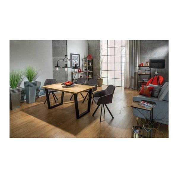 Jídelní stůl s konstrukcí z černě lakované oceli Signal Valentino, 180cm