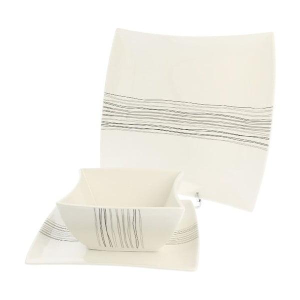 18dílná porcelánová sada Duo Gift Silver Line