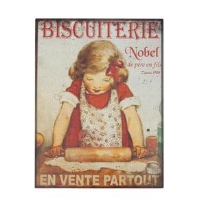 Poster metalic Antic Line Biscuiterie, 35 x 37 cm