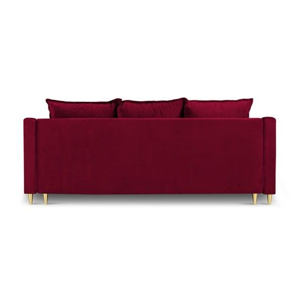 Červená třímístná rozkládací pohovka s úložným prostorem Mazzini Sofas Pansy