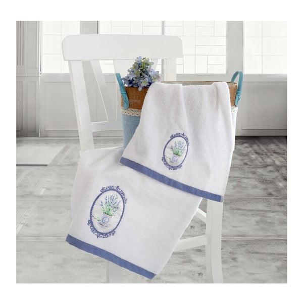 Set bílé osušky a ručníku Irya Home Spa, 30x50 cm a 50x90 cm