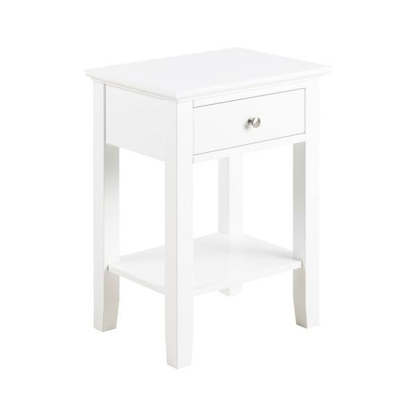 Bílý noční stolek s 1 šuplíkem Actona Linnea
