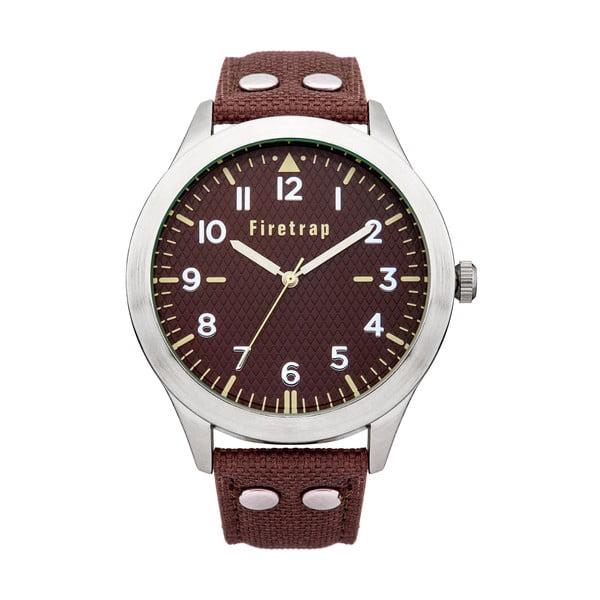 Pánské hodinky Firetrap Gents Brown Strap/Brown Dial, 45 mm