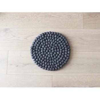 Pernă cu bile din lână pentru copii Wooldot Ball Chair Pad, ⌀ 30 cm, antracit