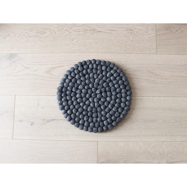 Antracitový kuličkový vlněný dětský podsedák Wooldot Ball Chair Pad, ⌀ 30 cm