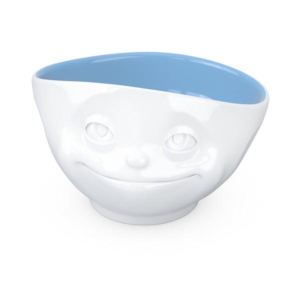 Biało-niebieska porcelanowa zakochana miska 58products