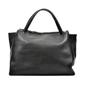 Černá kožená kabelka Carla Ferreri Celha Mento