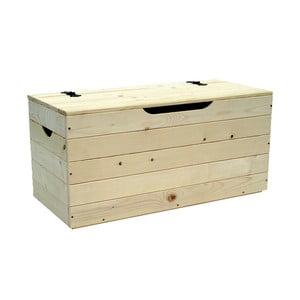 Dřevěná truhla Valdomo Settle, délka73 cm