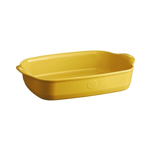 Élénk sárga szögletes sütőtál, 36 x 23 cm - Emile Henry