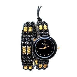Korálkové hodinky Double, Black Russian