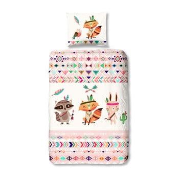 Lenjerie de pat din bumbac pentru copii Muller Textiels Premento Adventure140x200cm