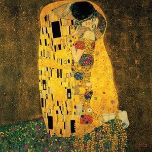 Gustav Klimt - obraz Kiss, 100x100 cm