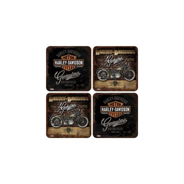 Set podtácků Harley Davidson, 8 ks