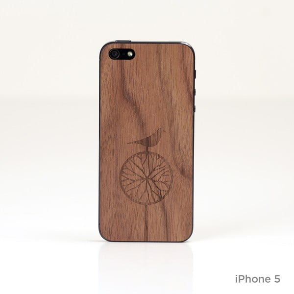 Dřevěný kryt na iPhone 5, Treebird design