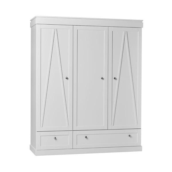 Biela 3-dverová šatníková skriňa Pinio Marie, 167,8 × 205 cm