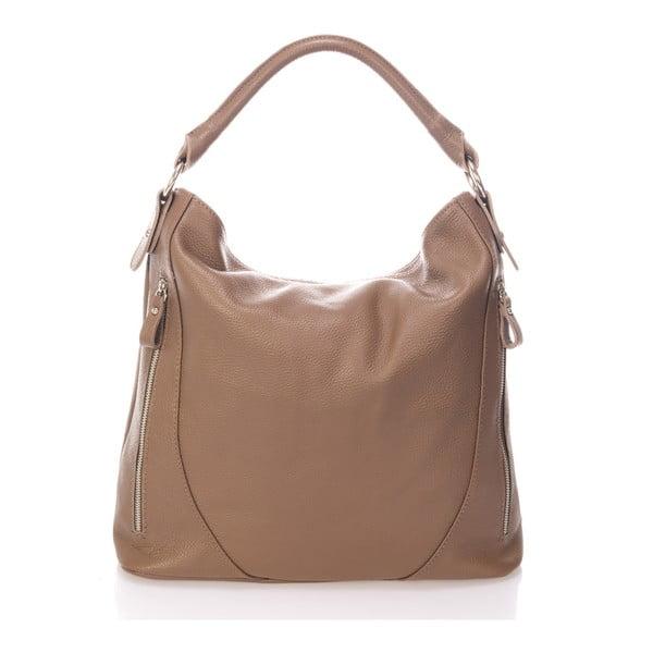 Béžová kožená kabelka Markese Ursine
