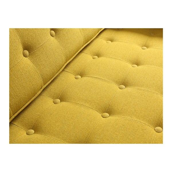 Žlutá rozkládací dvoumístná pohovka Custom Form Topics