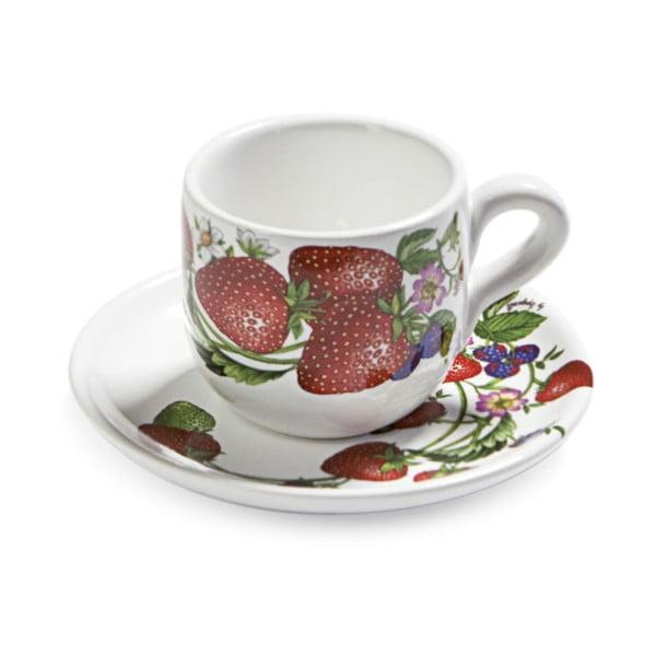 Set kávových šálků s podšálky Fade Fragole, 2ks