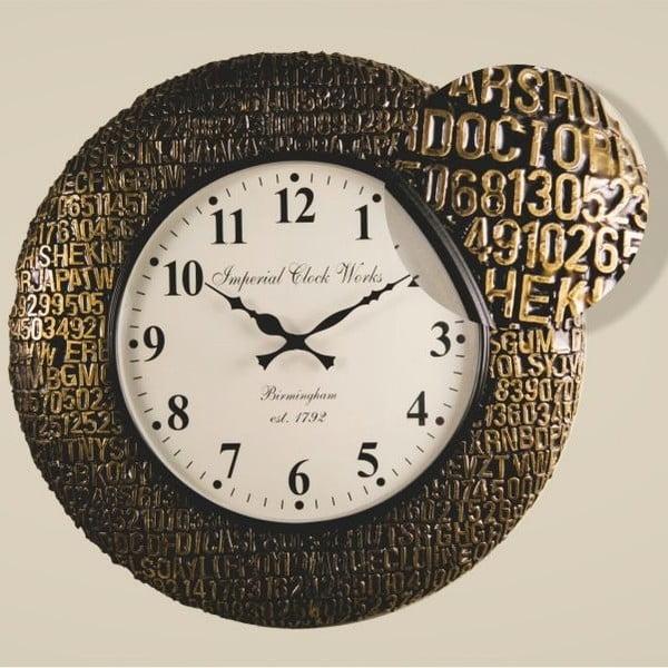 Nástěnné hodiny Zlatočerný rám