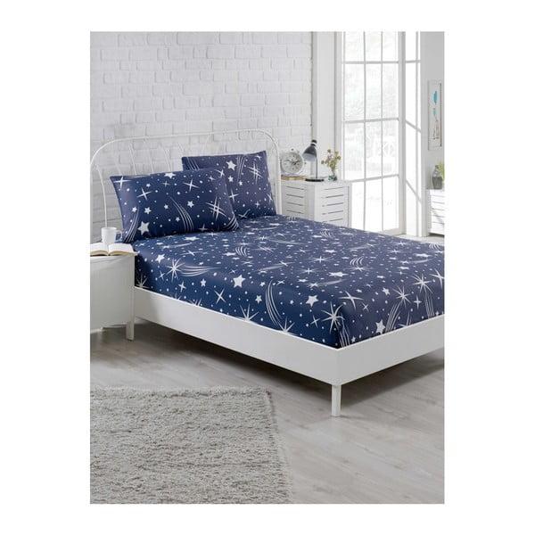 Clementino Starro elasztikus lepedő és párnahuzat szett egyszemélyes ágyhoz, 100 x 200 cm