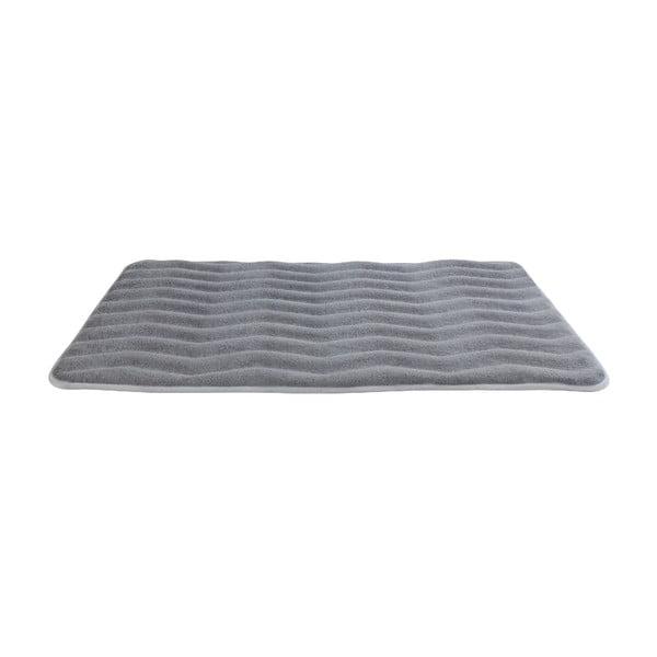 Světle šedá koupelnová předložka s pamětovou pěnou Wenko Light Grey, 80 x 50 cm