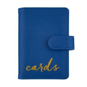 Modrá peněženka na doklady Busy B