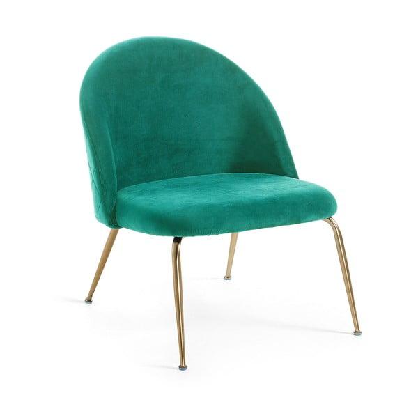 Zielone krzesło do jadalni La Forma Mystere