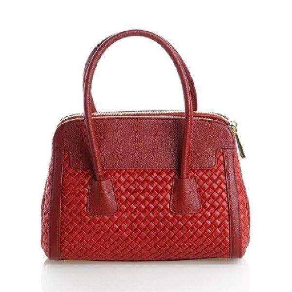 Kožená kabelka Beata, červená
