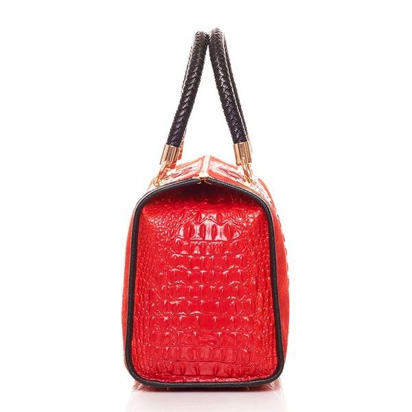 Kožená kabelka Bowling Red