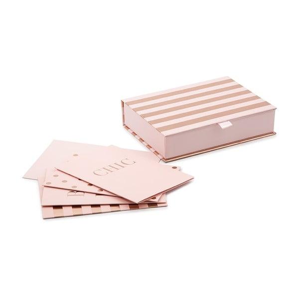 Sada rúžových papierov s obálkami v darčekovej škatuľke GO Stationery Champagne