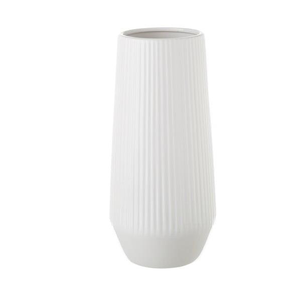 Bílá keramická váza Unimasa, 14,5 x 30 cm