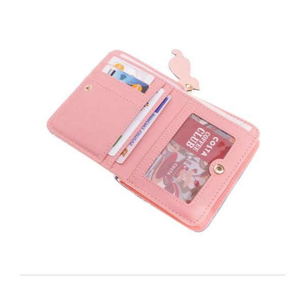 Malá peněženka Cat, růžová