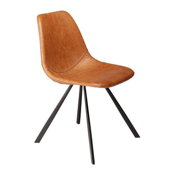Hnedá jedálenská stolička z eko kože DAN–FORM Denmark Pitch