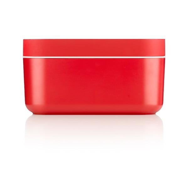 Czerwony pojemnik chłodzący z przegródkami na kostki lodu Lékué Ice