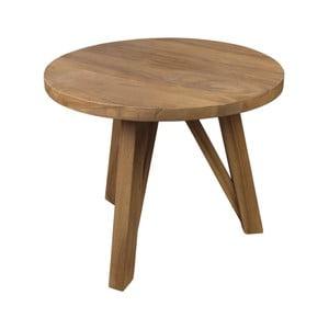 Příruční stolek  z teakového dřeva HSM collection India, Ø55cm