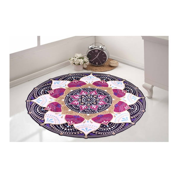Odolný koberec Vitaus Keluna, ⌀ 80 cm