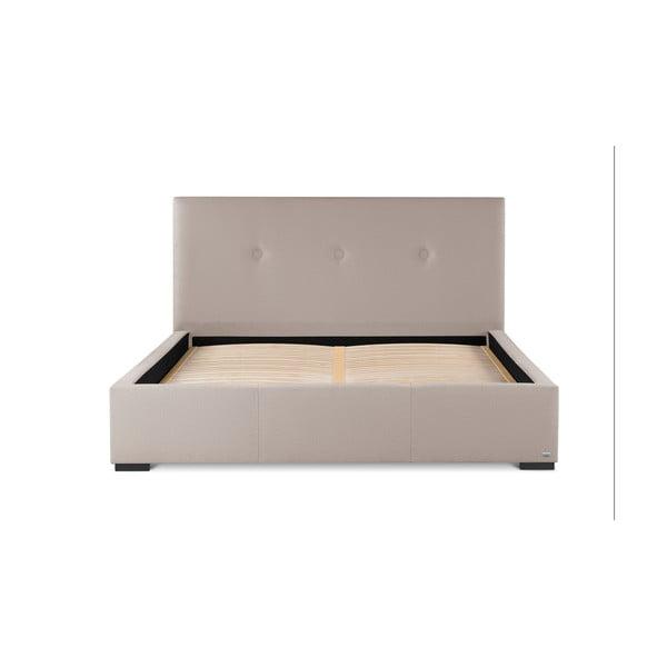 Pudrově růžová dvoulůžková postel s úložným prostorem Guy Laroche Home Serenity, 140x200cm