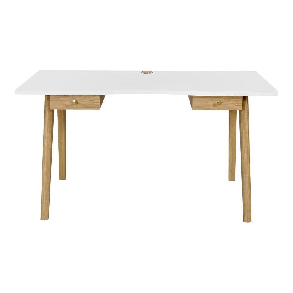Psací stůl s bílou deskou Woodman Nice