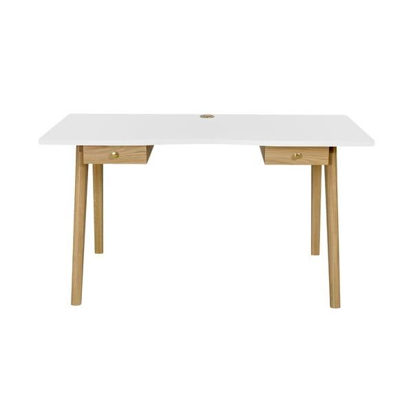 Nice íróasztal, fehér asztallappal - Woodman