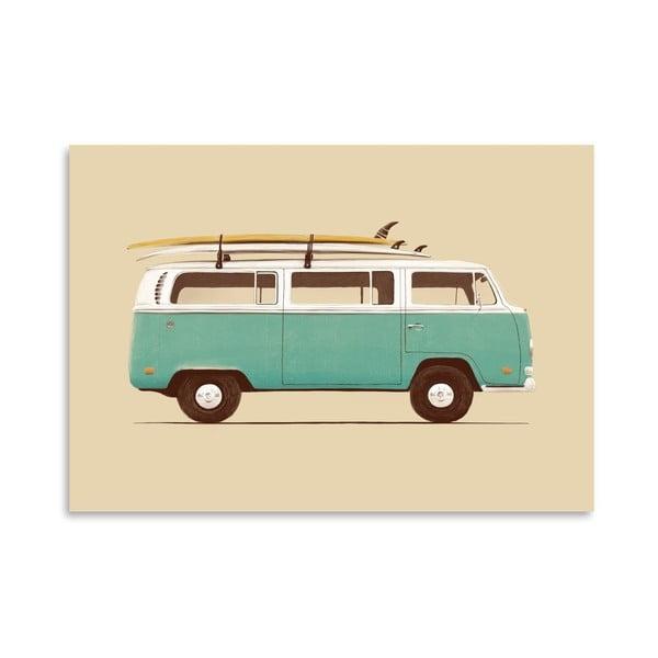 Plakát Blue Van od Florenta Bodart, 30x42 cm