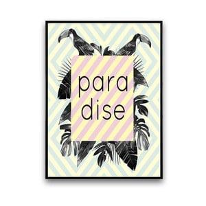 Plakát s květinami Paradise, 30 x 40 cm