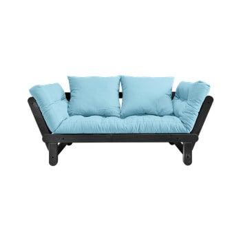 Canapea extensibilă Karup Design Beat Black/Light Blue