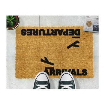 Covoraș intrare din fibre de cocos Artsy Doormats Arrivals and Departures, 40 x 60 cm de la Artsy Doormats