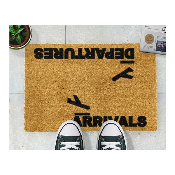 Preș Artsy Doormats Arrivals and Departures, 40 x 60 cm