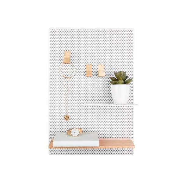 Perky fehér fém falitábla, 34,5 x 52,5 cm - PT LIVING