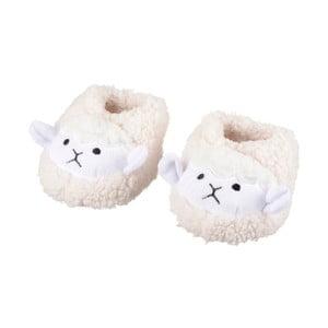 Bílé pantofle s ovečkama Le Studio