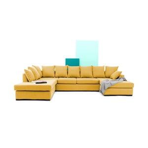 Canapea pe colț Vivonita Linus, galben