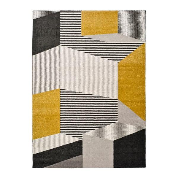 Covor Universal Elle Multi, 80 x 150 cm, gri - galben
