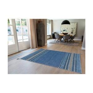 Modrý ručně vyráběný bavlněný koberec Arte Espina Navarro 2915, 170x230cm